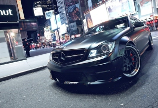 Mercedes-Benz C63 AMG Background for Android, iPhone and iPad