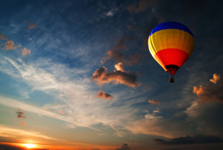 Colorful Air Balloon Wallpaper for Android, iPhone and iPad