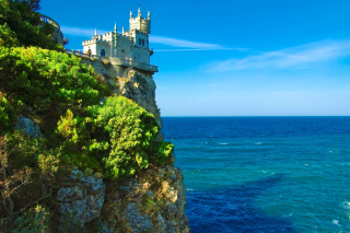 Swallows Nest Castle in Crimea Picture for Android, iPhone and iPad