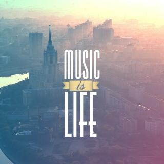 Music Is Life - Obrázkek zdarma pro 1024x1024