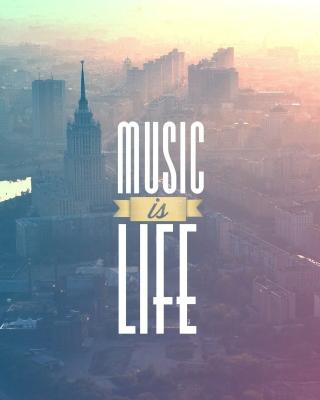 Music Is Life - Obrázkek zdarma pro Nokia X2