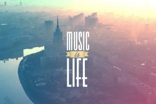 Music Is Life - Obrázkek zdarma pro LG P700 Optimus L7