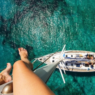 Crazy photo from yacht mast - Obrázkek zdarma pro iPad mini 2