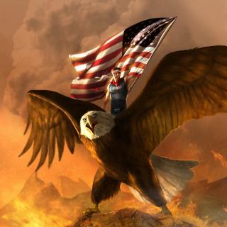 USA President on Eagle - Obrázkek zdarma pro 320x320