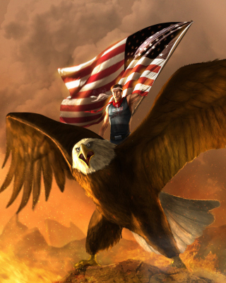 USA President on Eagle - Obrázkek zdarma pro 480x640