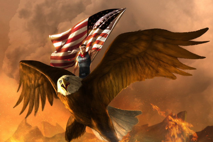 USA President on Eagle wallpaper