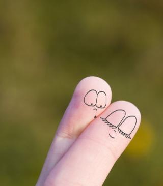 Cute Fingers - Obrázkek zdarma pro iPhone 4S