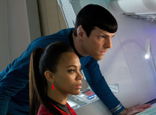 Spock And Uhura -  Star Trek Background for Android, iPhone and iPad