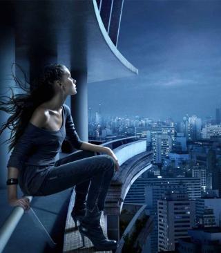 Night Walk On Roofs - Obrázkek zdarma pro Nokia Asha 202