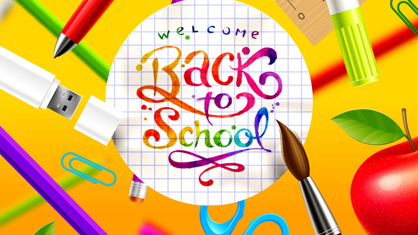 back to school wallpaper for 1366x768