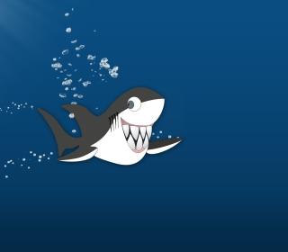 Funny Shark - Obrázkek zdarma pro iPad mini