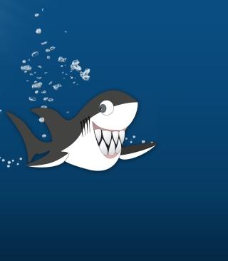 Funny Shark - Obrázkek zdarma pro iPhone 4S