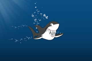 Funny Shark - Obrázkek zdarma pro 1600x900