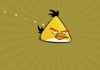 Картинка Yellow Angry Bird для телефона