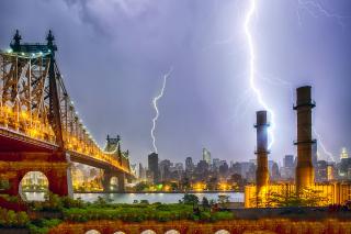 Storm in New York - Obrázkek zdarma pro 640x480