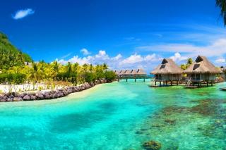 Картинка Hotel In Caribbean Sea для телефона
