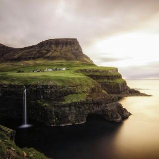 Gasadalur west side Faroe Islands - Obrázkek zdarma pro 128x128