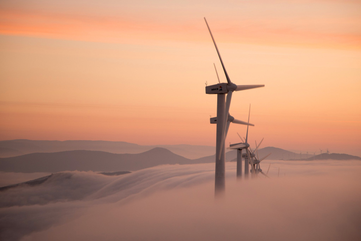 Dutch Wind power Mills for electricity wallpaper