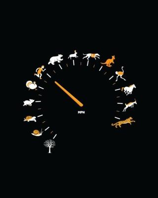 Funny Speedometer Mph - Obrázkek zdarma pro Nokia X3