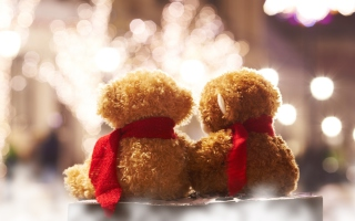 Christmas Teddy Wallpaper for Android, iPhone and iPad