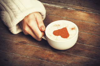 Heart Capuccino Wallpaper for Android, iPhone and iPad