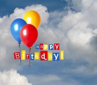 Happy Birthday Balloons - Obrázkek zdarma pro 320x320