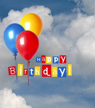 Happy Birthday Balloons - Obrázkek zdarma pro 768x1280