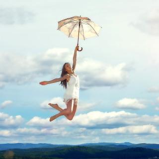 Jumping Girl - Obrázkek zdarma pro iPad 3