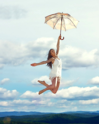 Jumping Girl - Obrázkek zdarma pro 320x480