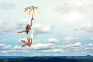 Jumping Girl Background for Android, iPhone and iPad