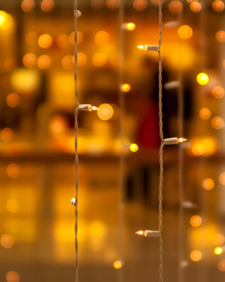 Christmas Garland Macro Photo - Obrázkek zdarma pro iPhone 5S