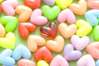 Free Colorful Hearts Picture for Android, iPhone and iPad