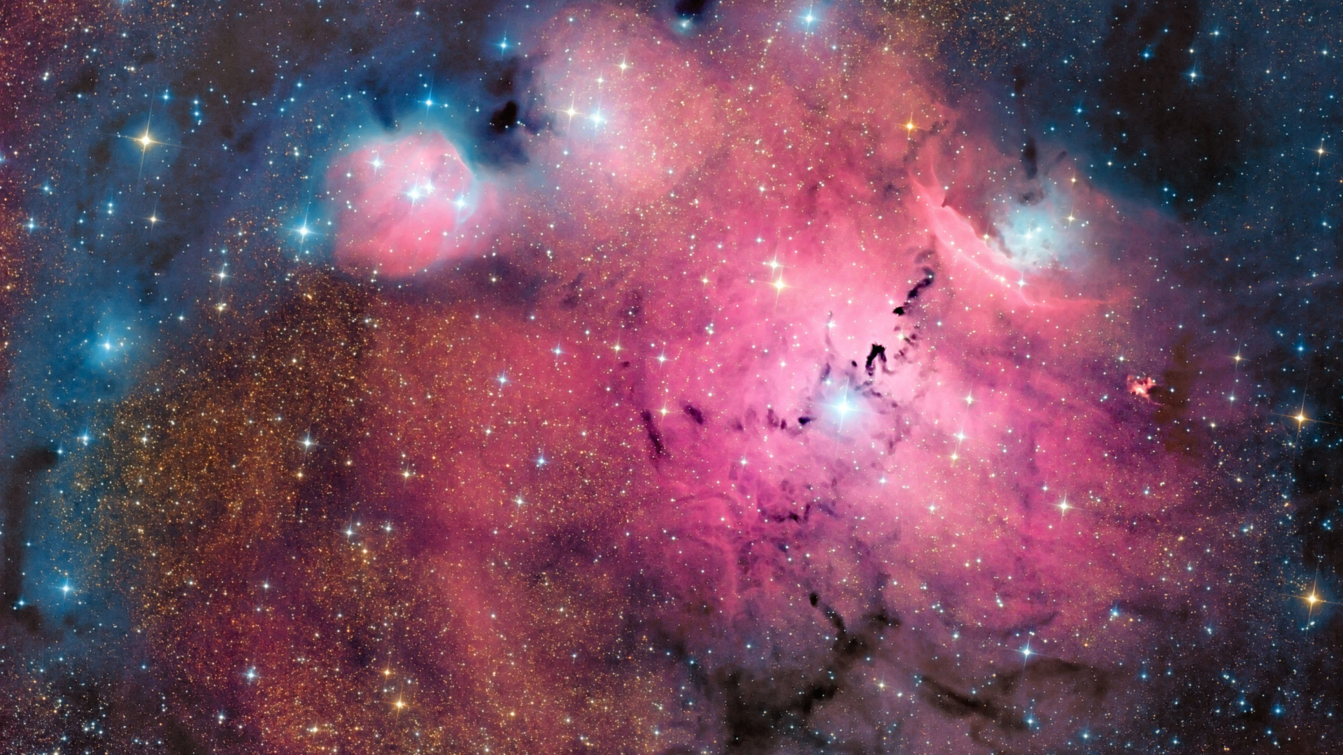 Pink space dust wallpaper for desktop 1920x1080 full hd - Pink space wallpaper ...