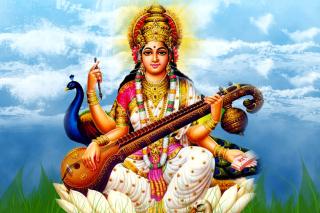 Saraswati Mantra - Obrázkek zdarma pro Android 320x480