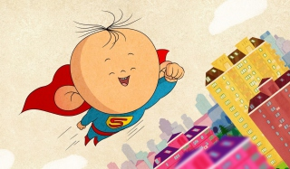 Superkid Superman Wallpaper for Android, iPhone and iPad