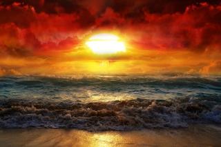Fire Kissed Ocean Water - Fondos de pantalla gratis para Samsung S5367 Galaxy Y TV