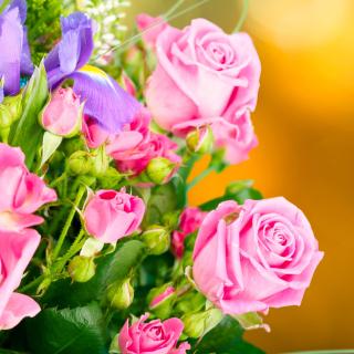 Spring bouquet of roses - Obrázkek zdarma pro 208x208