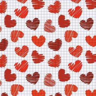 Valentine's Day Drawn Hearts - Obrázkek zdarma pro 208x208