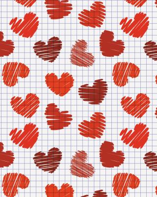 Valentine's Day Drawn Hearts - Obrázkek zdarma pro iPhone 6