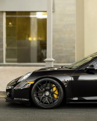 Porsche 911 Turbo Black - Obrázkek zdarma pro iPhone 5