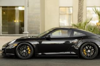 Porsche 911 Turbo Black - Obrázkek zdarma pro Fullscreen Desktop 1600x1200