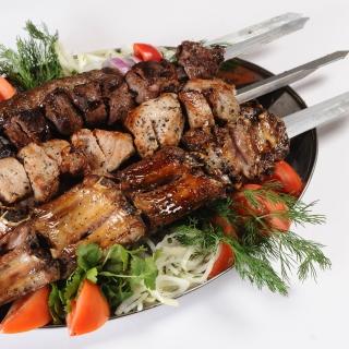 Georgian barbecue shashlik - Obrázkek zdarma pro 1024x1024