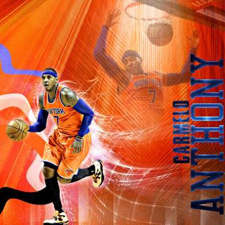 Carmelo Anthony NBA Player - Obrázkek zdarma pro iPad
