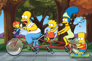 The Simpsons Maggie, Marge, Homer and Bart - Obrázkek zdarma pro Android 800x1280