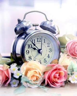 Alarm Clock with Roses - Obrázkek zdarma pro Nokia C1-00