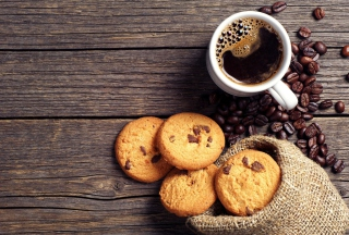 Free Perfect Morning Coffee With Cookies Picture for Android, iPhone and iPad