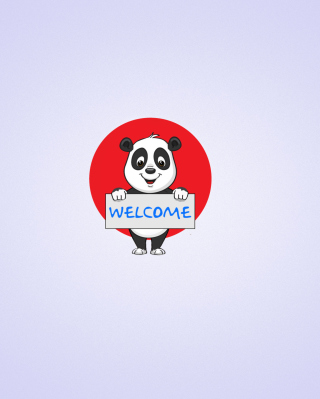 Welcome Panda - Obrázkek zdarma pro Nokia 300 Asha