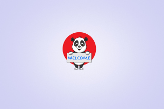 Welcome Panda - Obrázkek zdarma pro Fullscreen Desktop 1400x1050