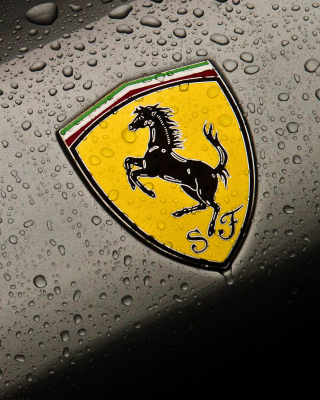 Ferrari Logo Image Wallpaper for 480x854