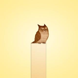 Owl Illustration - Obrázkek zdarma pro iPad mini